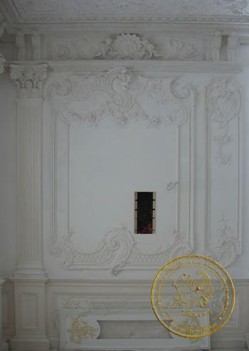 Гостиная оформление стен 1